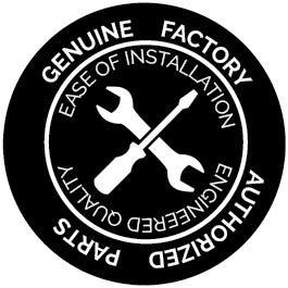 Genuine factory authorized parts